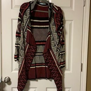 Maurices Hooded Asymmetrical LS Cape